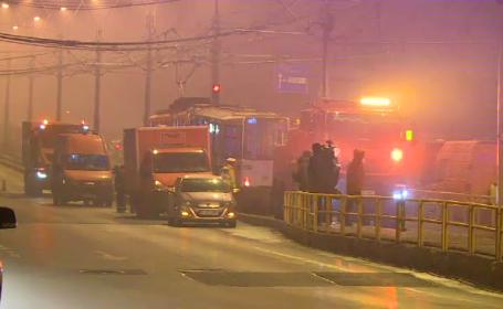 Circulația pe linia 41 a fost blocată, după ce un tramvai a deraiat de pe șine