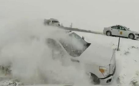 Imagini terifiante surprinse de o cameră de bord în timpul unui accident de mașină. VIDEO