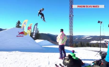 """Duel pe zăpadă la Păltiniș: """"Super mișto. Ai un flow în brațe, prin vene"""""""