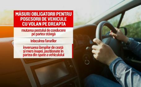 Ce se va întâmpla cu mașinile cu volan pe dreapta din România, după Brexit