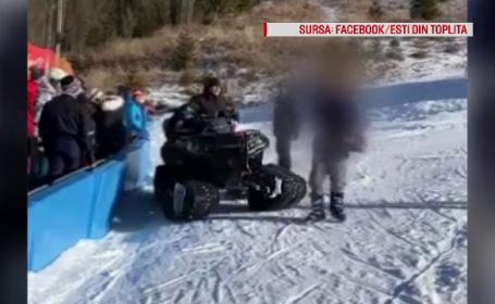 VIDEO. Turist călcat cu ATV-ul și bătut de administratorii pârtiei de schi Toplița