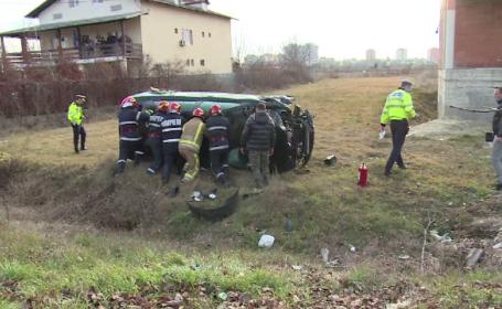 Elevul unei școli de șoferi, implicat într-un grav accident în timpul orelor de conducere