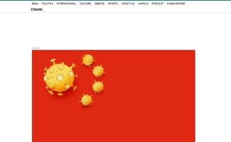 O caricatură a coronavirusului publicată într-un ziar danez a provocat furia chinezilor