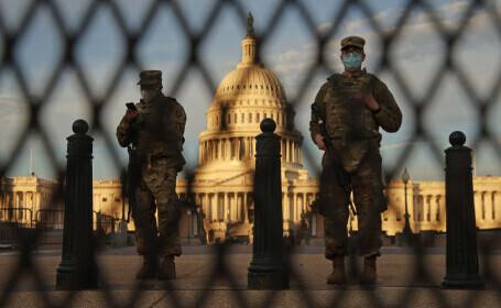 Capitala SUA seamănă tot mai mult cu o fortăreață sub asediu. Mii de militari sunt trimiși în Washington D.C.