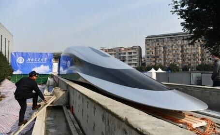 Prototip de tren care poate atinge viteza de 620 de km/h, lansat în China. Cum arată. GALERIE FOTO - 5