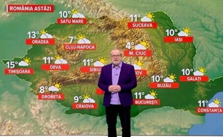 Vremea astăzi, 22 ianuarie. Se încălzește în toată țara, peste valorile obișnuite de iarnă