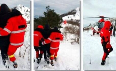 Doi bărbați au fost la un pas sa moară înghețați pe munte, în Banat