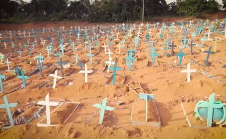 Orașul din care provine tulpina braziliană de Covid-19. Oamenii mor pe capete din cauza lipsei de oxigen