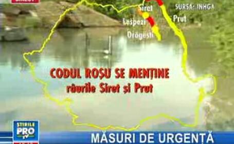 Cod roşu pe Prut şi Siret