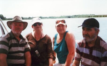 Dinica, Cercel, Rogin si Gaitan, cu salupa prin Delta Dunarii!