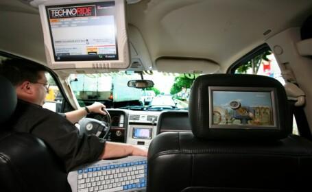 Televizor in masina