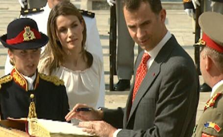 Vizita regala la Palatul Cotroceni! Printul Felipe si sotia sa, in Romania!
