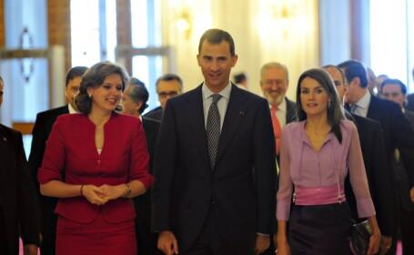 Printul Felipe si Letizia, ghidati de Roberta Anastase prin Casa Poporului