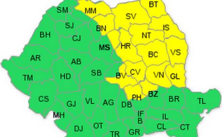 Codul galben de ploi, prelungit pana luni. 16 judete vor fi afectate