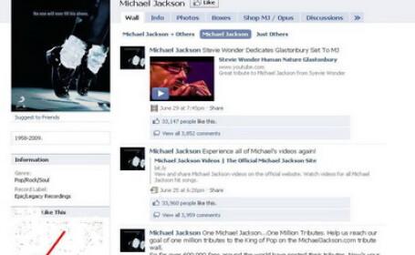 Michael Jackson pe Facebook