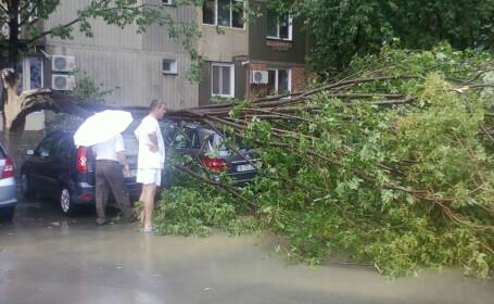 Furtunile au maturat Moldova. In Timis, un om a murit lovit de fulger