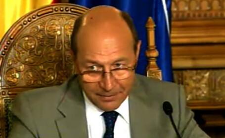 Traian Basescu la palatul Cotroceni