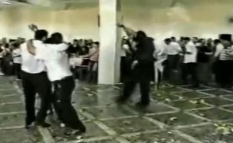 Nunta in Daghestan: sticle in cap, picioare in burta, oameni lesinati!