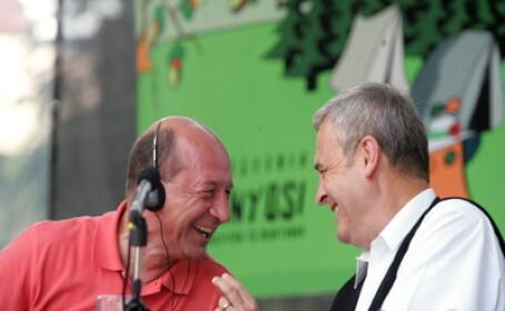 Traian Basescu si Laszlo Tokes