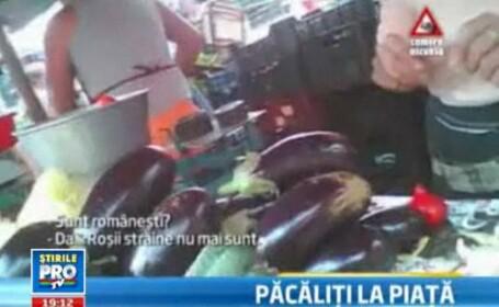 CAMERA ASCUNSA: Cumparam legume si fructe, romanesti doar pe eticheta. Cum suntem pacaliti la piata