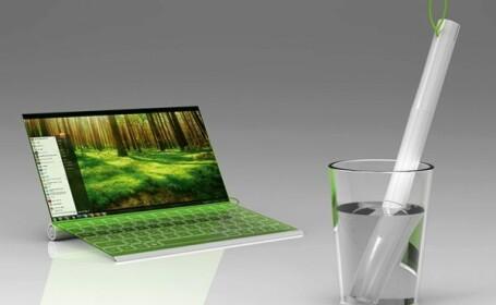 Vezi cum arata laptopul care nu foloseste priza. Se incarca din apa