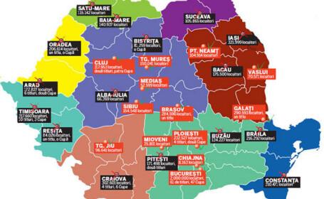 Liga I = 45% din Romania! Doar patru dintre cele noua regiuni istorice ale tarii participa in Liga I