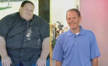 S-a injumatatit! Povestea barbatului care a slabit 134 de kilograme in trei ani