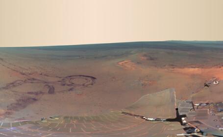 PRIMA imagine panoramica de pe Marte. NASA a prezentat fotografiile facute de robotul Opportunity