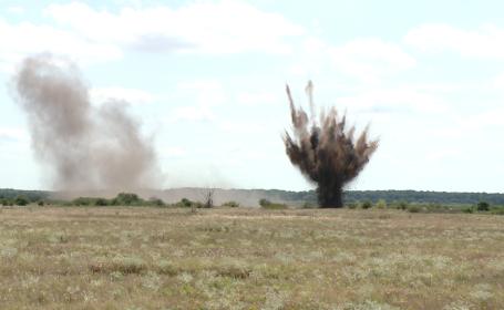 Explozie controlata la Timisoara. Munitie si bombe din timpul razboaielor au fost distruse