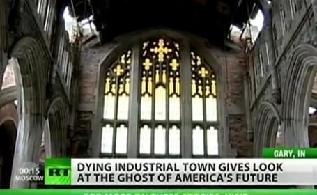 biserica in ruine, Gary, SUA