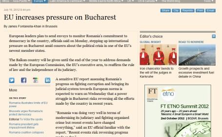 financial times Romania