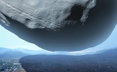 luna Phobos deasupra unui oras