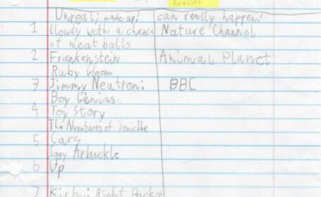 Ce a scris un elev de noua ani intr-o lucrare. Imaginea care a ajuns viral. FOTO