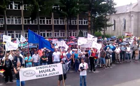 protest mineri Petrosani