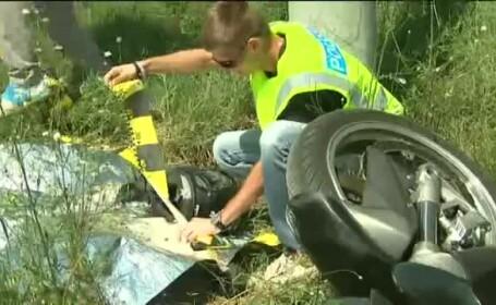 Motociclist mort pe DN1, dupa ce a intrat intr-un stalp. Politistii, ingroziti de scena accidentului