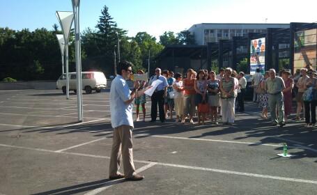Continua protestele la sediul Finantelor Publice Timis. Angajatii au inchis si astazi ghiseele
