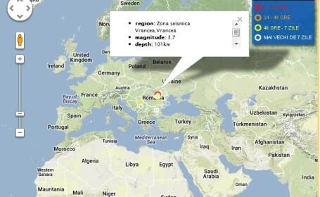 Cutremur cu magnitudinea de 3.7 in Vrancea, in aceasta noapte
