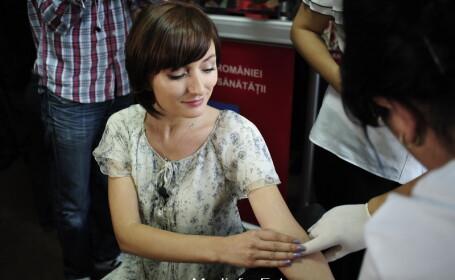 Paula Herlo, donare de sange pentru celule stem