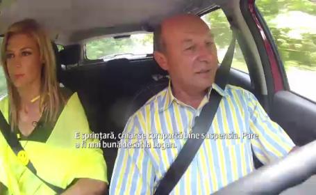 Traian Basescu, Logan MCV, drive test