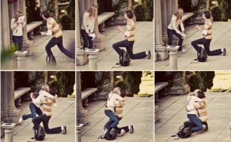 Unul dintre cele mai emotionante momente din viata ei, surpris de un fotograf pe strada