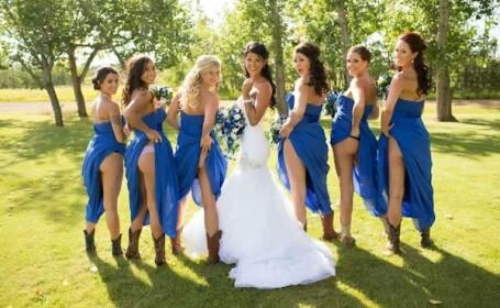Noua moda la nunti: Cum se fotografiaza domnisoarele de onoare