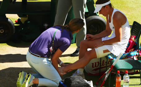Simona Halep, accidentare, Wimbledon