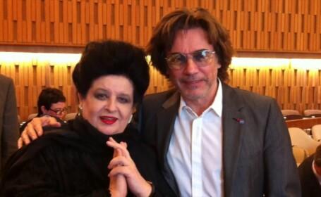 Mariana Nicolesco împreună cu Jean-Michel Jarre, Ambasadori Onorifici UNESCO, la Reuniunea de la Paris