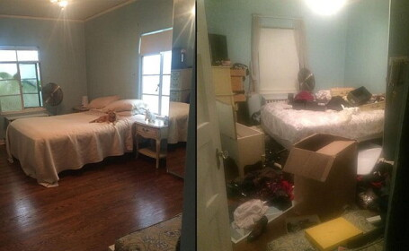 S-au speriat cand s-au intors si au gasit casa devastata. Ce au descoperit sub patul din dormitor