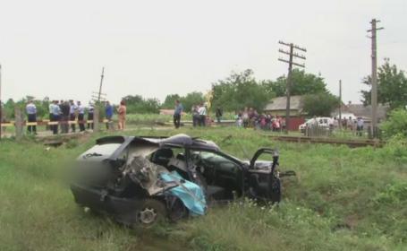 Accident dramatic in Neamt. O tanara de 20 de ani a murit dupa ce masina in care se afla a fost lovita de tren