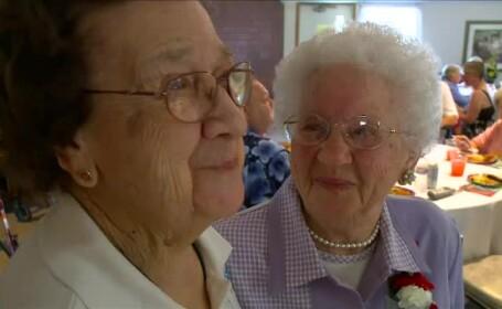 Doua prietene din Statele Unite si-au serbat impreuna aniversarea cu numarul 100. Secretul longevitatii lor este simplu