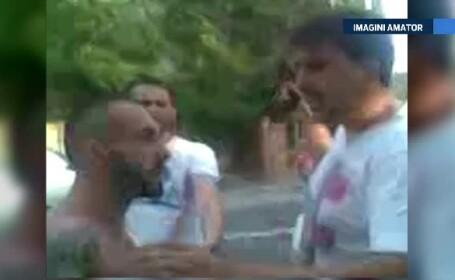 Doi politisti din Bucuresti au tras cu arma ca sa poata lua un tanar la audieri. Familia suspectului a facut scandal mare