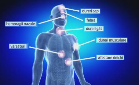 Spitalele din Romania au fost puse in garda in contextul epidemiei de EBOLA din Africa. Cum se transmite boala