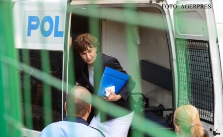 Irina Socol, director fondator al Siveco Romania, este adusa la Curtea de Apel Bucuresti, unde aceasta a contestat arestarea preventiva dispusa de Tribunalul Bucuresti, intr-un dosar de evaziune fiscala FOTO AGERPRES