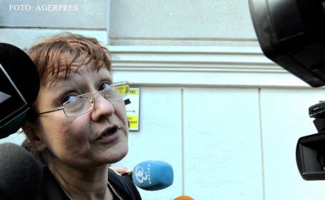 Laura Georgescu, presedintele Consiliului National al Audiovizualului (CNA), la iesirea din sediul DNA. FOTO AGERPRES
